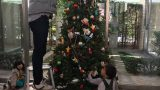 クリスマス飾りつけ 縦